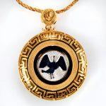 collana gialla cigno bianco