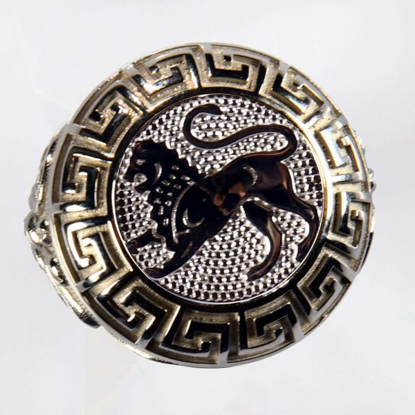 anello bianco leone biamco