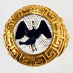 anello giallo cigno bianco