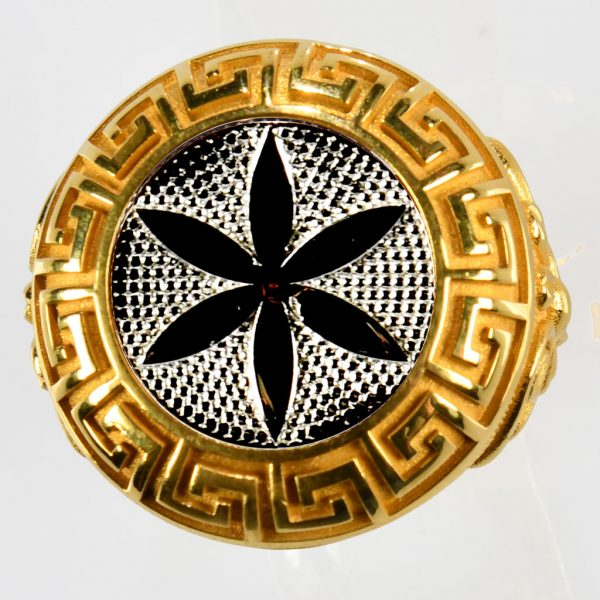 anello giallo fiore della vita bianco