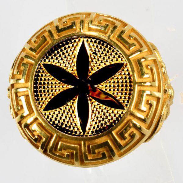 anello giallo fiore della vita giallo