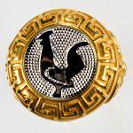 anello giallo gallo bianco