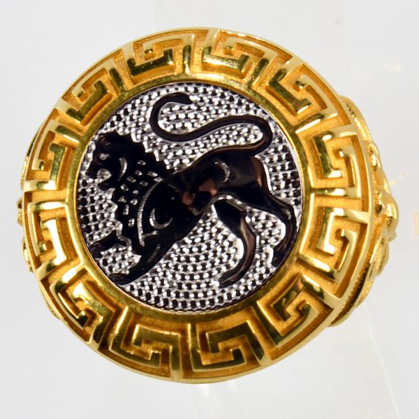 anello giallo leone bianco