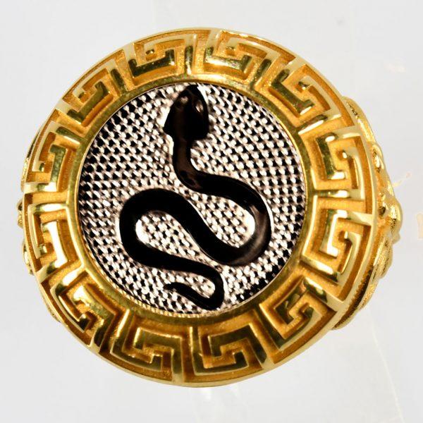 anello giallo vipera bianca